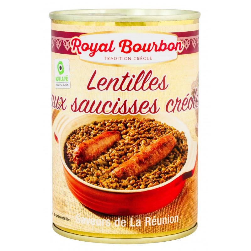 Lentilles aux saucisses créoles 420g